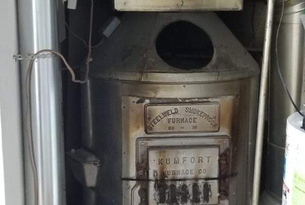 This was an older coal furnace that was converted to gas many years ago. We recently were called into for a removal and replacement to a new High Efficient AirEase Gas Furnace.